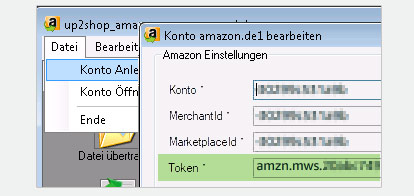 neue Version up2shop Amazon